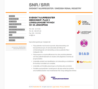 SNR: Swedish renal registry